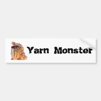Yarn Monster Bumber Sticker Bumper Sticker