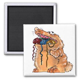 Yarn Monster Magnet