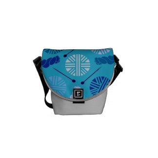 Yarn Print Messenger Bag