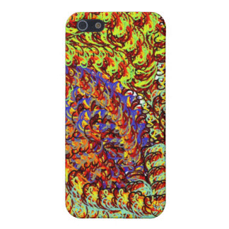Yarn Scribbles earthy colors design graphic Covers For iPhone 5