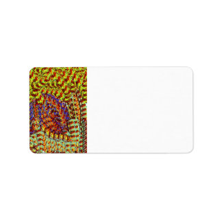 Yarn Scribbles earthy colors design graphic Personalized Address Labels