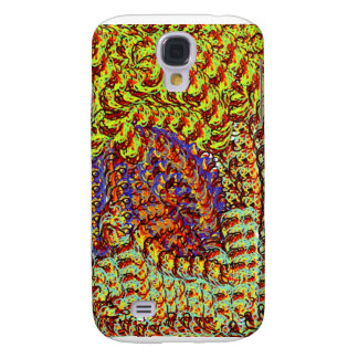 Yarn Scribbles earthy colors design graphic Samsung Galaxy S4 Cover