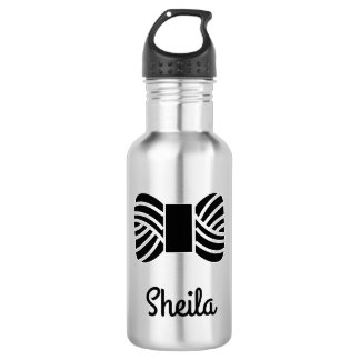 Yarn Skein • Your Text Stainless Steel Water Bottle