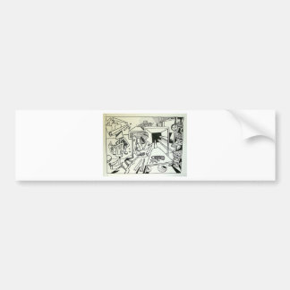 Yarn Store Abstract by Piliero Bumper Sticker