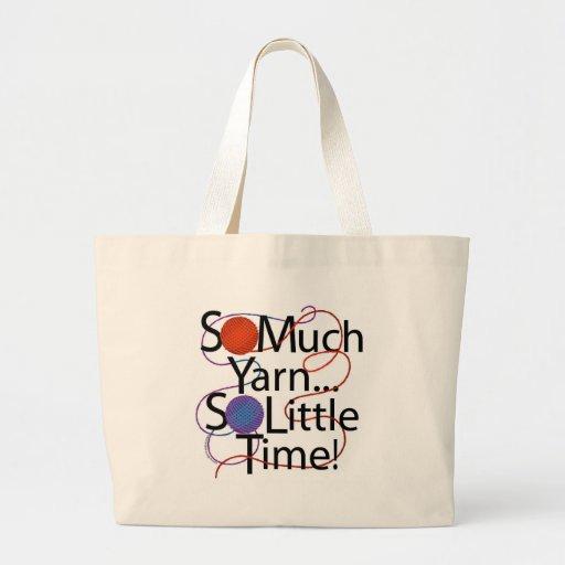 Yarn Time Jumbo Tote Bag