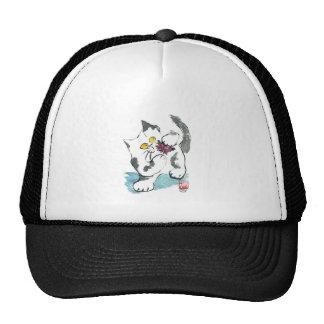 Yarn Toy and Kitten, Sumi-e Trucker Hat
