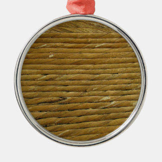 Yarn Twine Rope Texture Background Metal Ornament