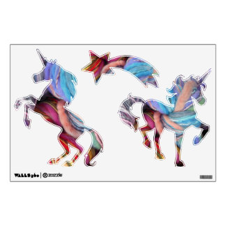 Yarn Unicorns Wall Decal