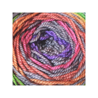 Yarn up close canvas print