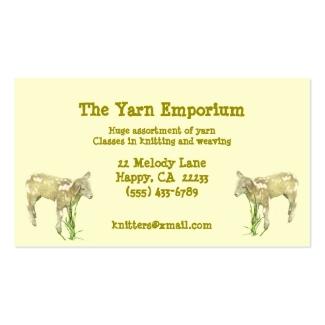 Yarn Wool Knitting Weaving Business Card
