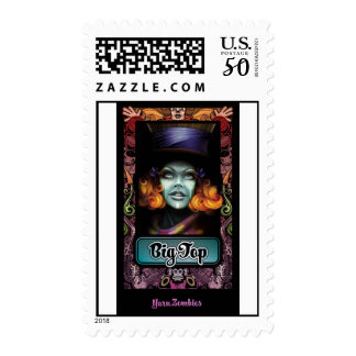 """Yarn Zombie """"Big Top"""" First-Class US Postage Stamp"""