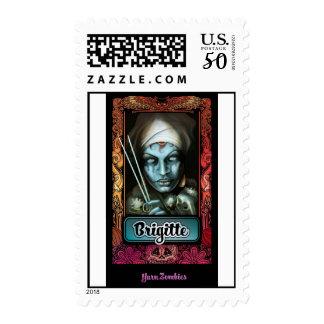 "Yarn Zombie ""Brigitte"" US Postage Stamp"