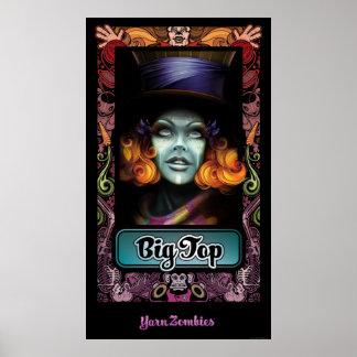 "Yarn Zombies ""Big Top"" Portrait Poster"