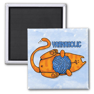 yarnaholic 2 inch square magnet