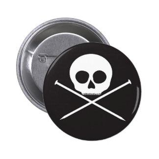 YarnCore Skull and Cross Needles Pins