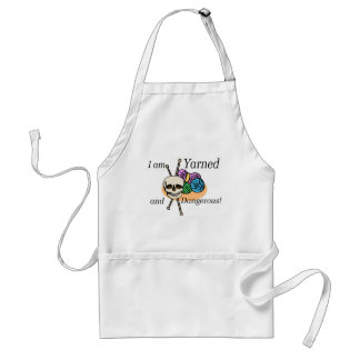 Yarned and Dangerous T-shirts and Gifts. Adult Apron