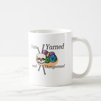 Yarned and Dangerous T-shirts and Gifts. Classic White Coffee Mug