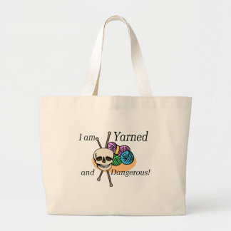 Yarned and Dangerous T-shirts and Gifts. Large Tote Bag
