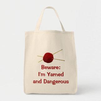 Yarned and Dangerous Tote Bags