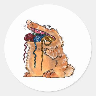 yarnmonster classic round sticker