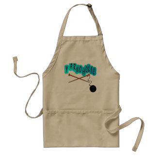 Yarnoholic With Ball of Yarn And Knitting Needles Adult Apron