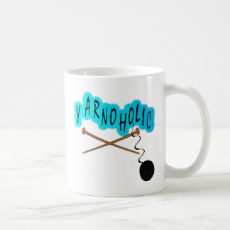 Yarnoholic With Ball of Yarn And Knitting Needles Coffee Mug