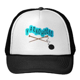 Yarnoholic With Ball of Yarn And Knitting Needles Mesh Hat