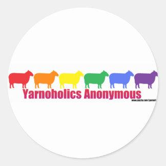 Yarnoholics Anonymous Rainbow Sheep Classic Round Sticker