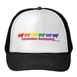 Yarnoholics Anonymous Rainbow Sheep Trucker Hat