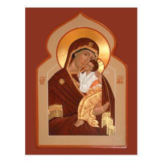 Yaroslavl' Mother of God Prayer Card Postcards