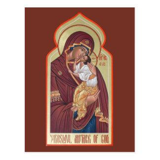 Yaroslavl Mother of God Prayer Card Post Cards