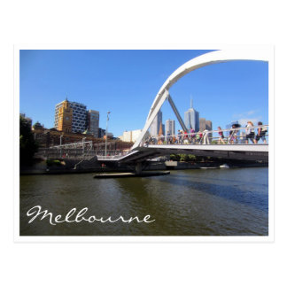yarra footbridge postcard