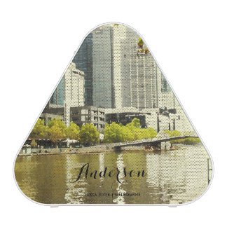 YARRA RIVER MELBOURNE PAINTING LEATHER MONOGRAM BLUETOOTH SPEAKER