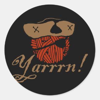 Yarrn Round Stickers