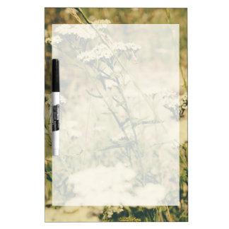 Yarrow Field, Green Retro Filter Over The Photo Dry Erase Board