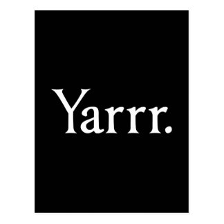 Yarrr Pirate Post Cards