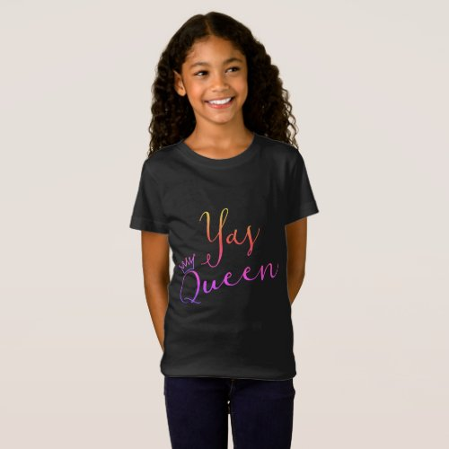 Yas Queen  Crown Childs T Shirt