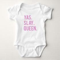 Yas Slay Queen Print 2 Baby Bodysuit