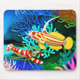 Yasha Hase Goby & Randalls Pistol Shrimp Mousepad