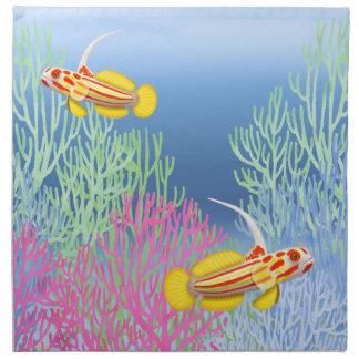 Yasha Hase Goby Reef Fish American MoJo Napkins
