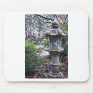 Yashiro Gareden Stone Lantern on a Frosty Day Mouse Pad