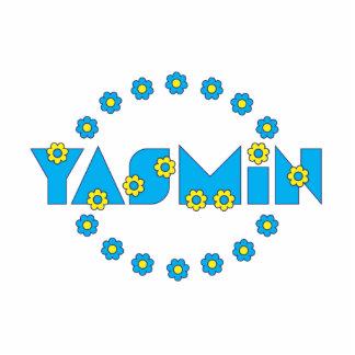 Yasmin en el azul de Flores Escultura Fotográfica