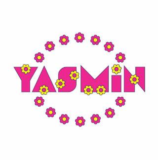 Yasmin en el rosa de Flores Escultura Fotográfica