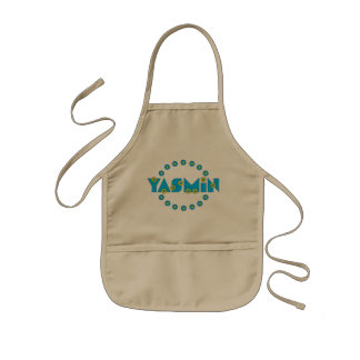 Yasmin in Flores Blue Kids' Apron