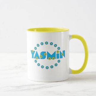Yasmin in Flores Blue Mug