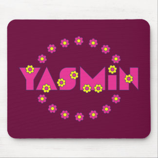 Yasmin in Flores Pink Mouse Pad