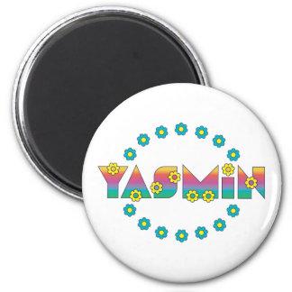 Yasmin in Flores Rainbow Fridge Magnets