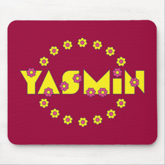 Yasmin in Flores Yellow Mouse Pad