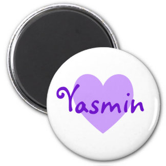 Yasmin in Purple 2 Inch Round Magnet