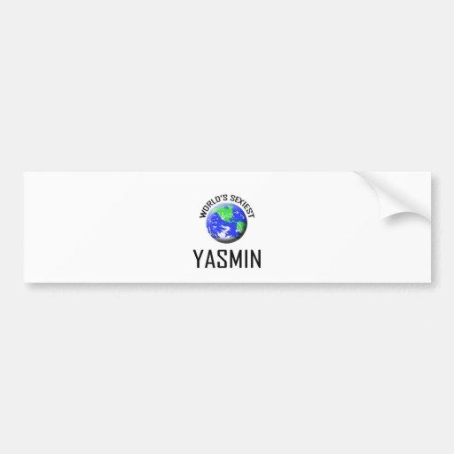 Yasmin más atractiva del mundo pegatina para auto